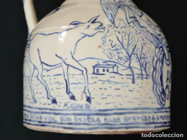 Arte: Martín Cifre (Palma de Mallorca 1940-2009). Jarra de cerámica esmaltada. Firmada. Mide 29 cm. - Foto 12 - 269004629