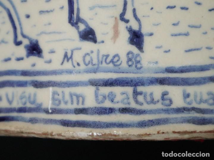 Arte: Martín Cifre (Palma de Mallorca 1940-2009). Jarra de cerámica esmaltada. Firmada. Mide 29 cm. - Foto 21 - 269004629