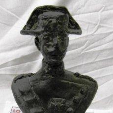 Arte: ESCULTURA BRONCE BUSTO DE GUARDIA CIVIL FIRMADO POR VALLEJOS CON SELLO DE LA FUNDICIÓN.. Lote 269345293