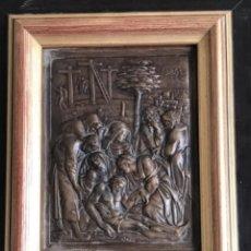 Arte: EL DESCENDIMIENTO DE LA CRUZ DE BRONCE BAJORRELIEVE.. Lote 271028553