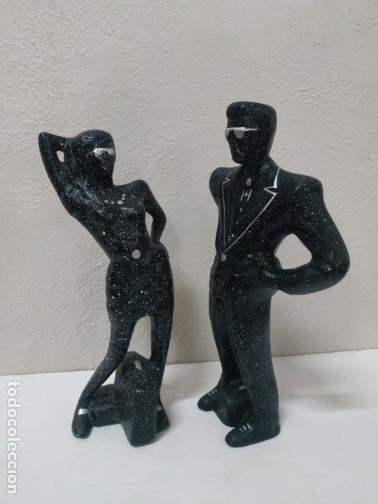 FIGURAS DE PORCELANA PURPURINA HOMBRE Y MUJERPRECIOSAS FIGURAS DE ESCAYOLA - PURPURINA - HOMBRE Y MU (Arte - Escultura - Porcelana)