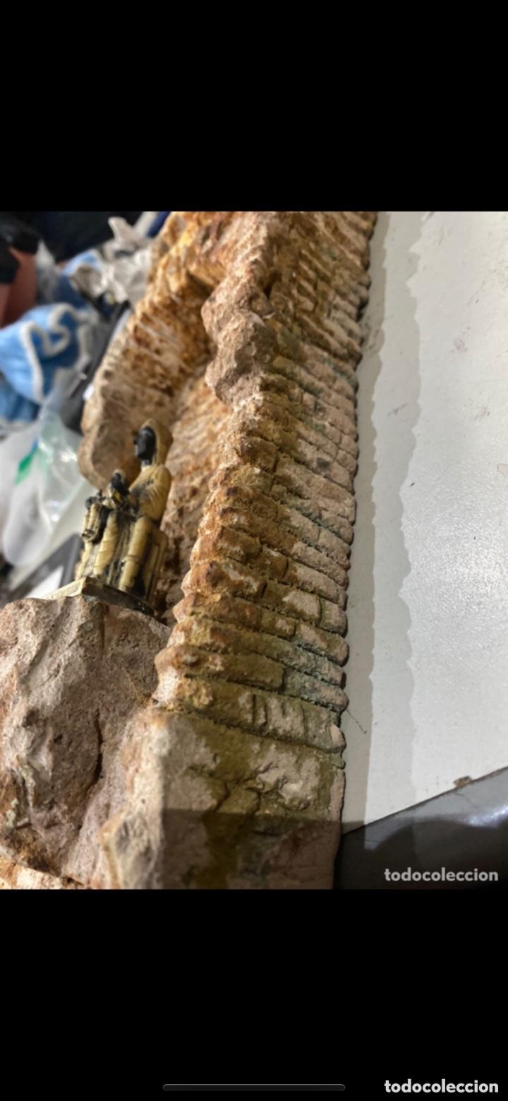 Arte: Curiosa escultura de piedra tallada firmada con figura virgen negra de Monserrat. Ver las fotos - Foto 15 - 271685148
