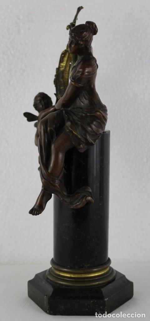 Arte: Hans Guradze (1861-1922) - Escultura en bronce con base de mármol art nouveau firmada y fechada - Foto 5 - 272182583
