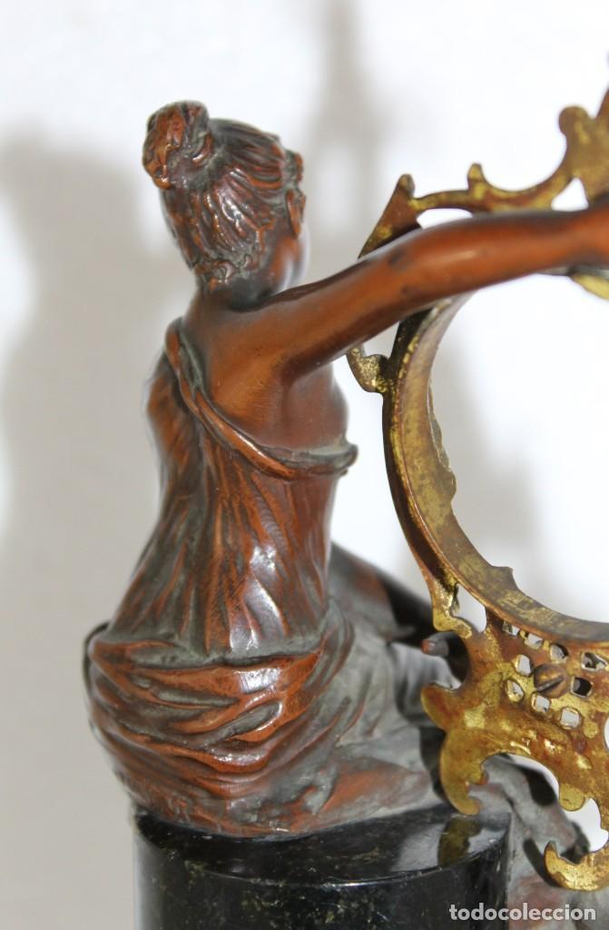 Arte: Hans Guradze (1861-1922) - Escultura en bronce con base de mármol art nouveau firmada y fechada - Foto 7 - 272182583