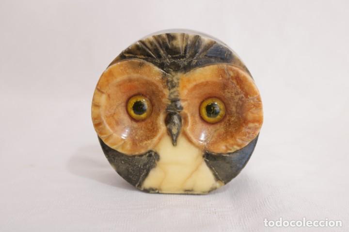 Arte: Bonita escultura de un búho de alabastro hecho a mano - Foto 6 - 272481163