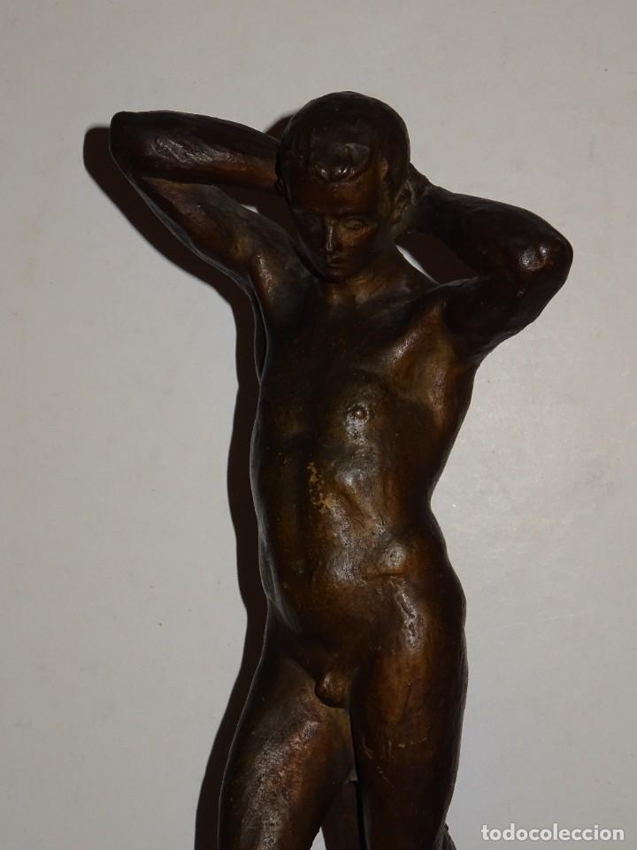 Arte: (M) ESCULTURA DE TERRACOTA FIRMADO S COSTA - SANTIAGO COSTA VAQUÉ - MORA DEBRE 1895 / 1984 - Foto 3 - 273975668