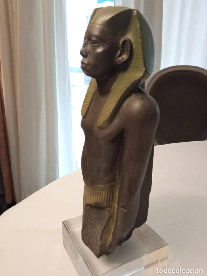 ESCULTURA REPRODUCCIÓN DE AMENEMHAT III (Arte - Escultura - Bronce)