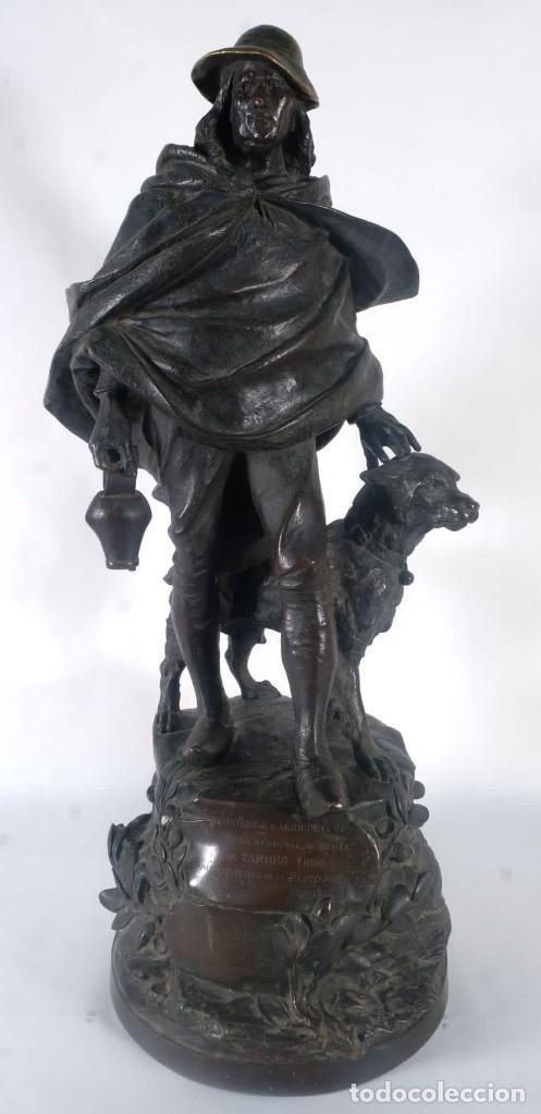 GUSTAVE DELOYE ESCULTURA EN BRONCE CONCOURS REGIONAL AGRICOLE DE TARBES 1898 FIRMADA (Arte - Escultura - Bronce)