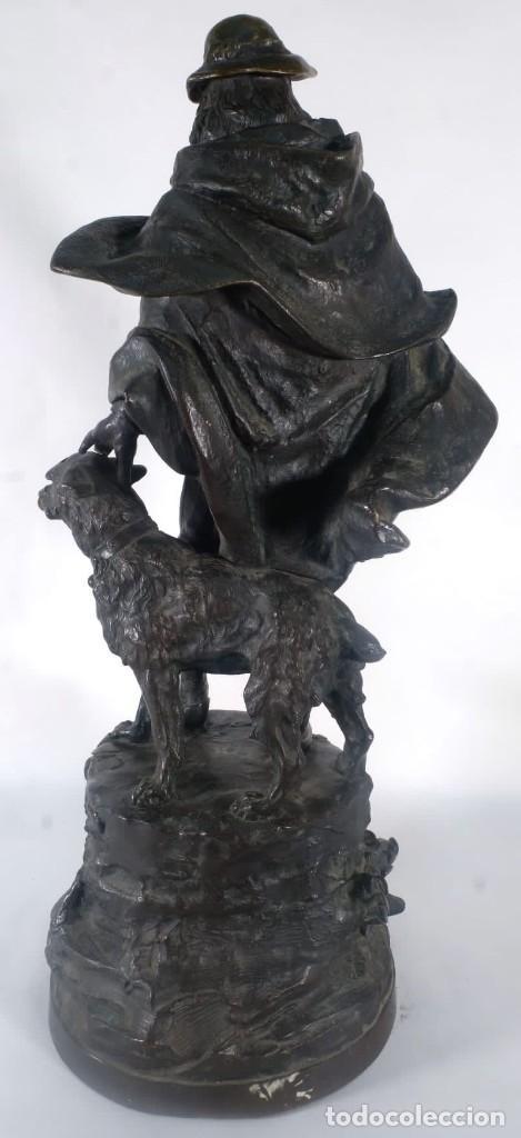 Arte: Gustave Deloye Escultura en bronce Concours Regional Agricole de Tarbes 1898 firmada - Foto 2 - 275285868