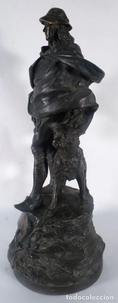 Arte: Gustave Deloye Escultura en bronce Concours Regional Agricole de Tarbes 1898 firmada - Foto 3 - 275285868