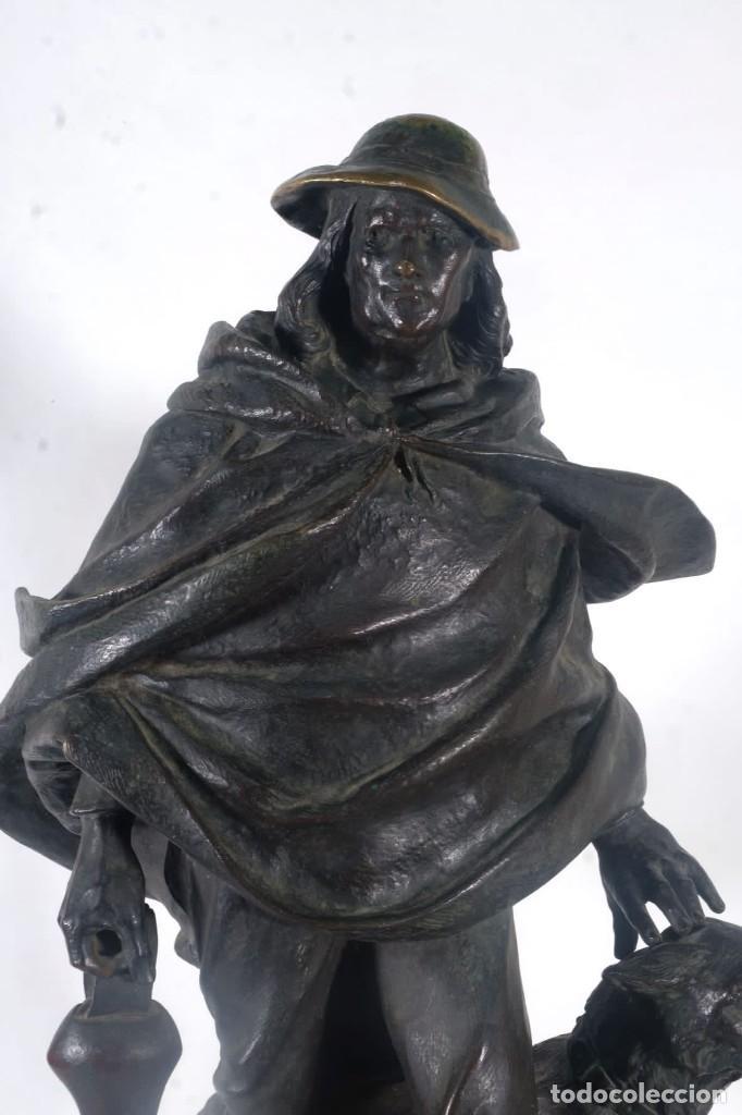 Arte: Gustave Deloye Escultura en bronce Concours Regional Agricole de Tarbes 1898 firmada - Foto 6 - 275285868