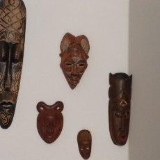 Arte: 5 MASCARAS AFRICANAS. Lote 275875948