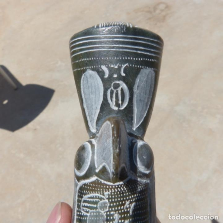 Arte: Horus , dios fundador de ejipto , esculpido en piedra jabon , 1689 gr , 30,7 cm - Foto 8 - 275910473