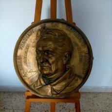 Arte: 1873 /JEAN JULES SALMSON / PIEZA HISTORICA PLACA ADOLPHE THIERS. Lote 275973523