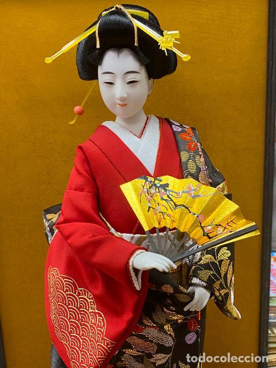 Arte: Geisha en porcelana de 42 cm en perfecto estado - Foto 2 - 276079783