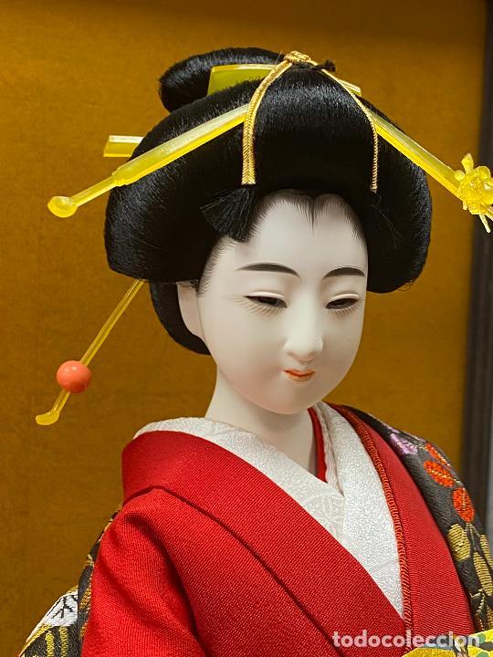Arte: Geisha en porcelana de 42 cm en perfecto estado - Foto 3 - 276079783