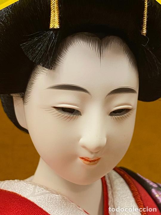 Arte: Geisha en porcelana de 42 cm en perfecto estado - Foto 4 - 276079783
