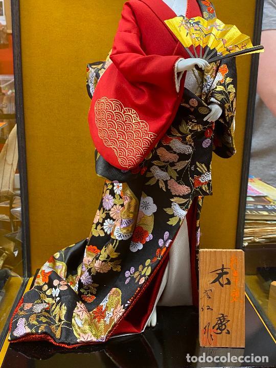 Arte: Geisha en porcelana de 42 cm en perfecto estado - Foto 5 - 276079783