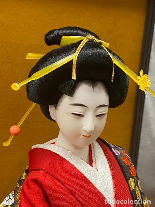 Arte: Geisha en porcelana de 42 cm en perfecto estado - Foto 7 - 276079783