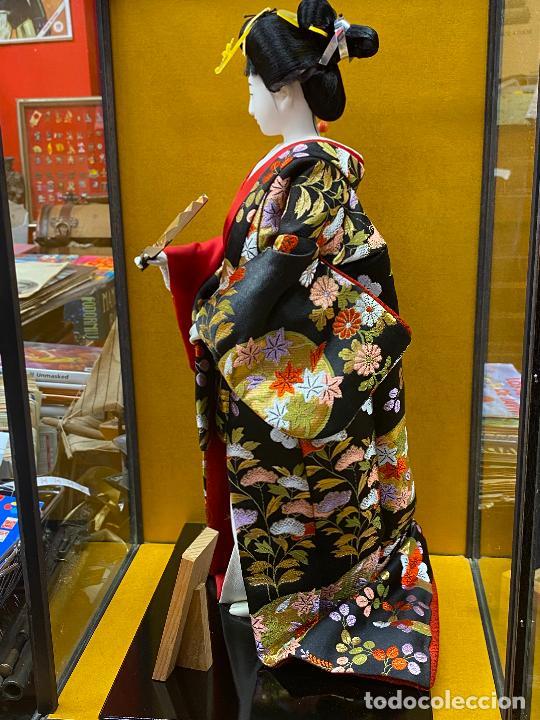 Arte: Geisha en porcelana de 42 cm en perfecto estado - Foto 10 - 276079783