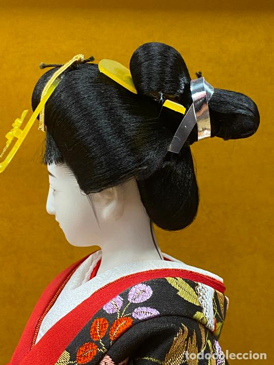 Arte: Geisha en porcelana de 42 cm en perfecto estado - Foto 11 - 276079783