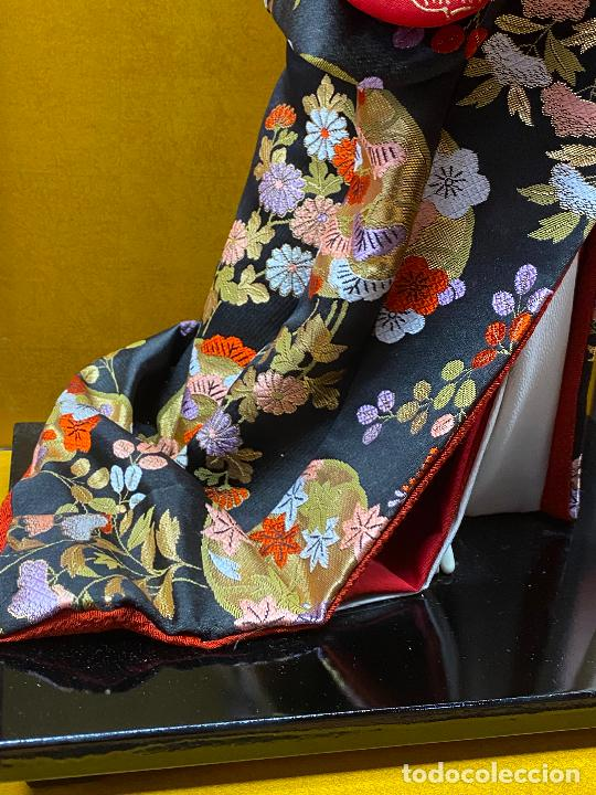 Arte: Geisha en porcelana de 42 cm en perfecto estado - Foto 12 - 276079783