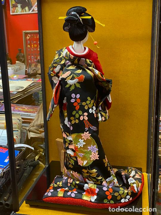 Arte: Geisha en porcelana de 42 cm en perfecto estado - Foto 13 - 276079783