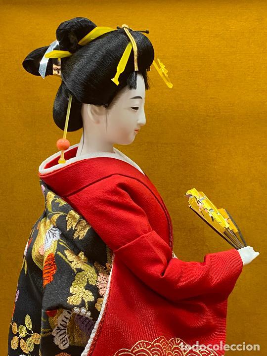 Arte: Geisha en porcelana de 42 cm en perfecto estado - Foto 14 - 276079783