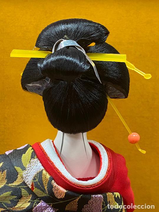 Arte: Geisha en porcelana de 42 cm en perfecto estado - Foto 15 - 276079783
