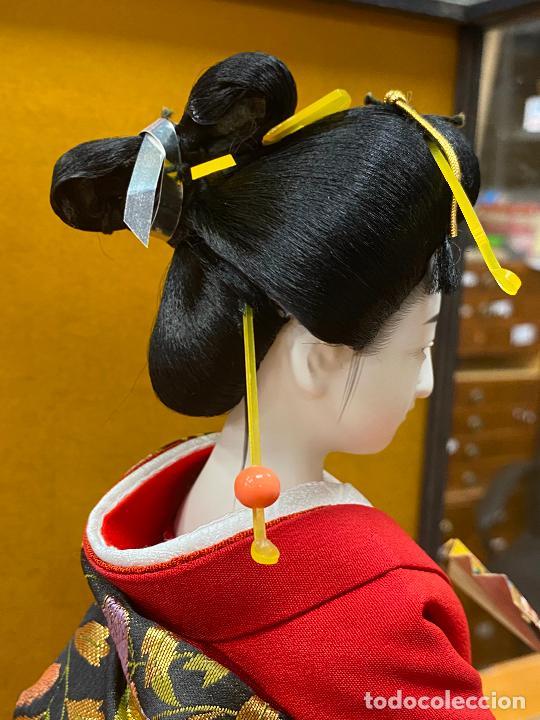 Arte: Geisha en porcelana de 42 cm en perfecto estado - Foto 18 - 276079783