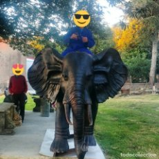 Arte: ELEFANTE DE BRONCE DE 600 KG EN TAMAÑO REAL [AMAZING BRONZE ELEPHANT]. Lote 276175513