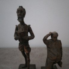 Arte: ANTIGÜAS FIGURAS TALLAS 2 DON QUIJOTE Y SANCHO. Lote 276186113