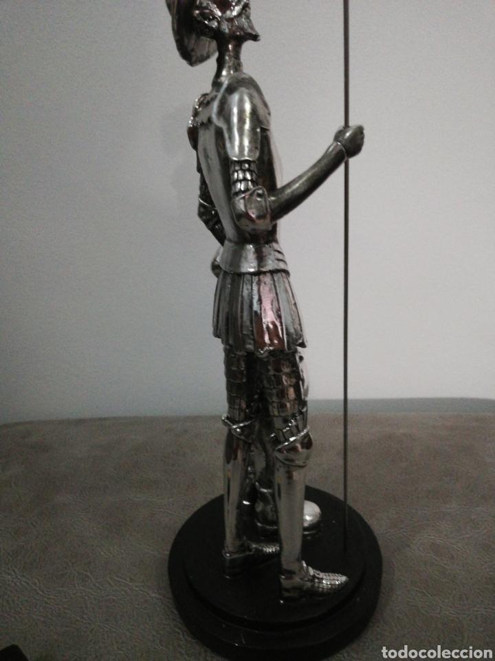 Arte: Figura DON QUIJOTE Y SANCHO niquelado. - Foto 4 - 276402088