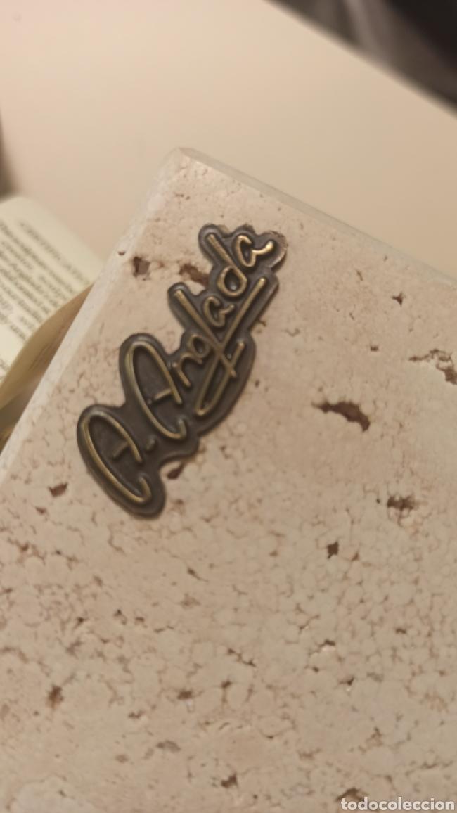 """Arte: Reloj de mesa """"Floral"""" Ángeles Anglada . Cierzo y resina. Ver fotos - Foto 3 - 276471458"""