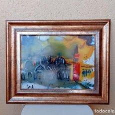 Arte: SALVADOR DALÍ PORCELANA DE LIMOGES CERTIFICADA Y NUMERADA: PIEZA 620/1000. MARCO MADERA MACIZA. Lote 276594598