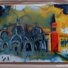 Arte: SALVADOR DALÍ PORCELANA DE LIMOGES CERTIFICADA Y NUMERADA, SIN ENMARCAR: PIEZA 619/1000.. Lote 276695253