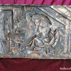 """Arte: PRECIOSA PLACA - RELIEVE METÁLICA. 5 KILOS. OBRA """"EL POETA POBRE"""" DEL ALEMÁN CARL SPITZWEG. Lote 278578138"""