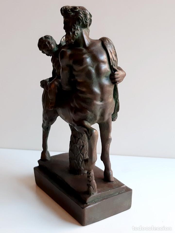 Arte: EXCLUSIVA FIGURA Cupido en centauro. Bronce. 23x14x5cm - Foto 10 - 278798638