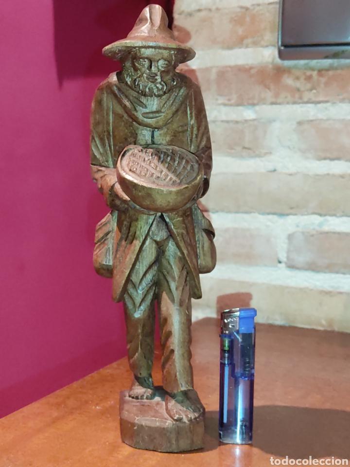 Arte: Figura de madera tallada a mano,hortelano o campesino. - Foto 2 - 278883333