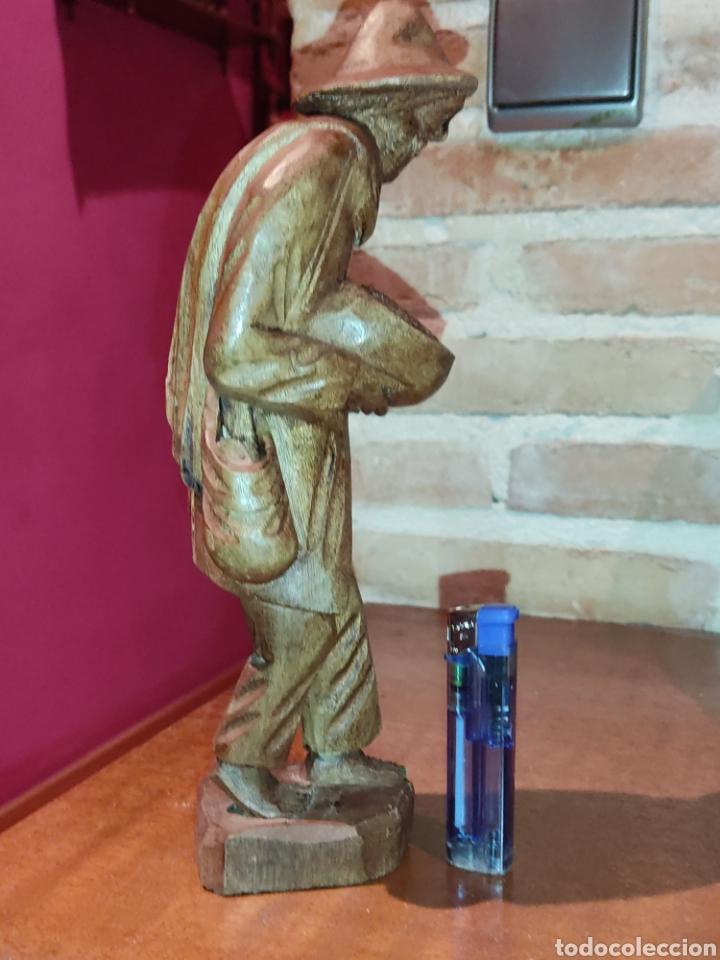 Arte: Figura de madera tallada a mano,hortelano o campesino. - Foto 3 - 278883333