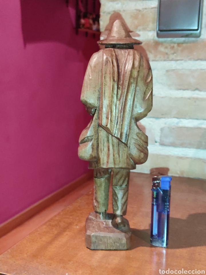 Arte: Figura de madera tallada a mano,hortelano o campesino. - Foto 4 - 278883333