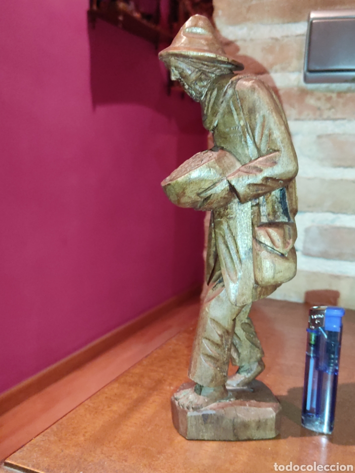 Arte: Figura de madera tallada a mano,hortelano o campesino. - Foto 5 - 278883333