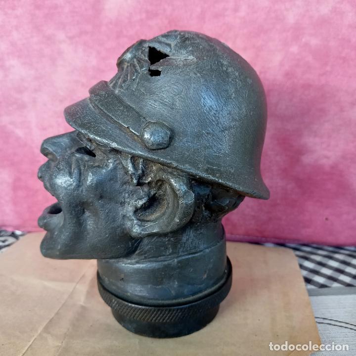 Arte: Busto de hierro fundido policía escudo Coruña 2,6 kg juego rana embellecedor coche pasamanos - Foto 7 - 280456763