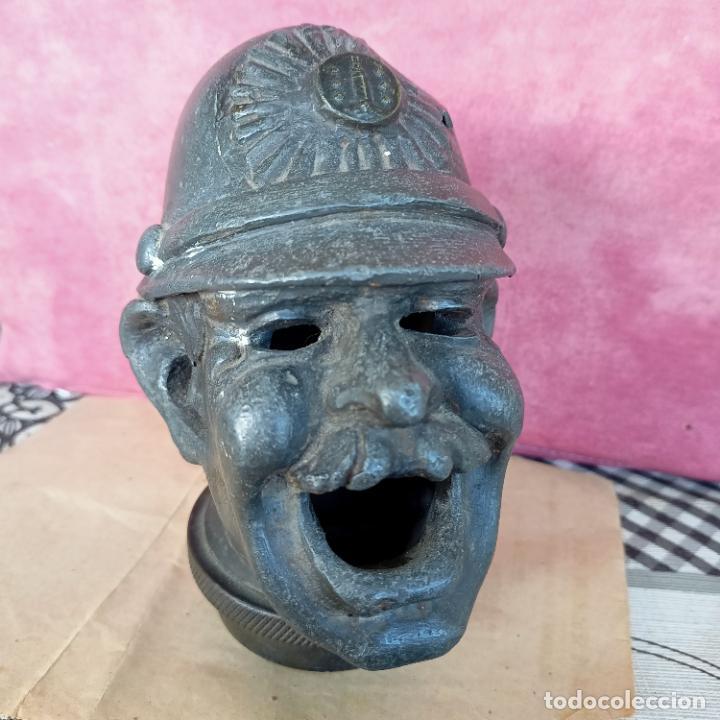 Arte: Busto de hierro fundido policía escudo Coruña 2,6 kg juego rana embellecedor coche pasamanos - Foto 9 - 280456763