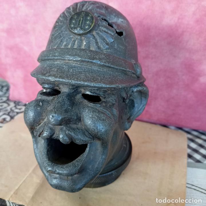 Arte: Busto de hierro fundido policía escudo Coruña 2,6 kg juego rana embellecedor coche pasamanos - Foto 11 - 280456763