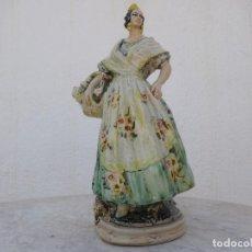 Arte: FIGURA ORIGINAL DE ANTONIO PEYRO VALENCIANA CON CESTO DE FLORES. Lote 282905318