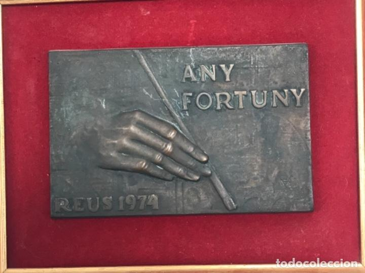 AÑO FORTUNY REUS 1974.MARIANO FORTUNY.BRONCE FIRMADO. BAJO RELIEVE. MARIANO FORTUNY. (Arte - Escultura - Bronce)