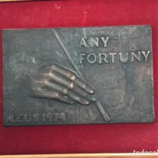 Arte: AÑO FORTUNY REUS 1974.MARIANO FORTUNY.BRONCE FIRMADO. BAJO RELIEVE. MARIANO FORTUNY.. Lote 283137853