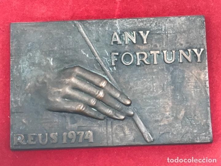 Arte: AÑO FORTUNY REUS 1974.MARIANO FORTUNY.BRONCE FIRMADO. BAJO RELIEVE. MARIANO FORTUNY. - Foto 2 - 283137853