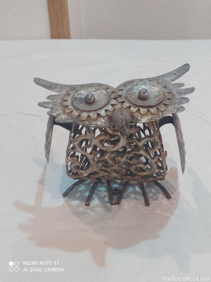 Arte: Antigua figura de hierro (búho) - Foto 3 - 284575688